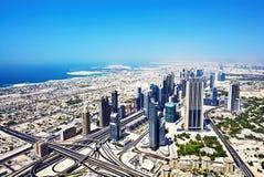 Draufsicht von Dubai stockbilder