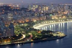 Draufsicht von Enseada de Botafogo und von Flamengo-Strand, Rio de Janeiro, Brasilien stockbilder