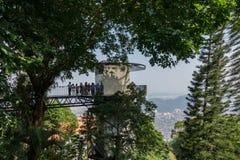 Draufsicht von Georgetown, Penang-Insel, Malaysia Blick von der Spitze von lizenzfreies stockbild