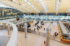 Draufsicht von Hamburg-Flughafenabfertigungsgebäude 2 Stockfotos
