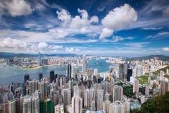 Draufsicht von Hong Kong-Stadt, Stadt des Meer, Kowloon Lizenzfreies Stockbild
