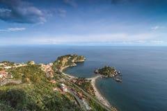 Draufsicht von Isola Bella Stockfoto