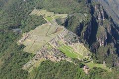 Draufsicht von Machu Picchu Lizenzfreies Stockfoto