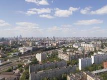 Draufsicht von Moskau im Sommer Lizenzfreie Stockfotos