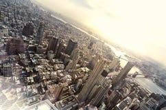 Draufsicht von New York Stockfotografie