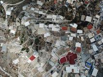 Draufsicht von Olympos in Karpathos-Insel, Dodecanese Griechenland lizenzfreie stockfotos