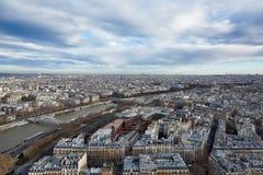 Draufsicht von Paris, Frankreich Lizenzfreies Stockfoto