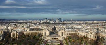 Draufsicht von Paris, Frankreich Stockbild