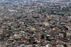 Draufsicht von Pointe-Noire der Kongo stockfoto