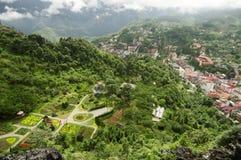 Draufsicht von Sapa, Vietnam Lizenzfreies Stockfoto