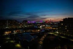 Draufsicht von Sochi-Park Fisht-Stadion mit einem Hotel und Dias Stockfotos