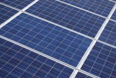 Draufsicht von Sonnenkollektoren Lizenzfreies Stockbild