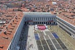 Draufsicht von St Mark Quadrat in Venedig Italien lizenzfreie stockbilder