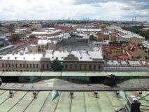 Draufsicht von St Petersburg Ansicht von oben Russland Stockfotos
