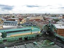 Draufsicht von St Petersburg u. von x28; Ansicht vom above& x29; Russland Lizenzfreie Stockfotografie