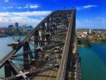 Draufsicht von Sydney Harbor Bridge stockfotos