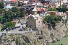 Draufsicht von Tiflis Lizenzfreie Stockbilder