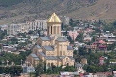 Draufsicht von Tiflis Stockfotografie