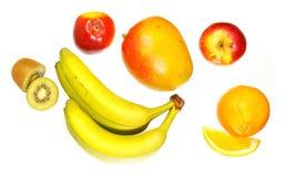 Draufsicht von verschiedenen Früchten Lizenzfreie Stockfotografie