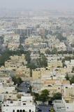 Draufsicht von Wohnlandhäusern in Riad-Stadt, Saudi-Arabien stockfotografie