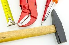 Draufsicht von woork Werkzeug Lizenzfreies Stockbild