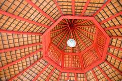 Draufsichtachteck-Dachstuhl-Zusammenfassungsart Stockfotografie