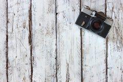 Draufsichtbild der alten Kamera der Weinlese Lizenzfreie Stockbilder