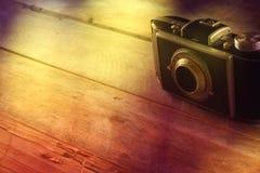 Draufsichtbild der alten Kamera der Weinlese Lizenzfreies Stockfoto