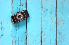 Draufsichtbild der alten Kamera der Weinlese Lizenzfreies Stockbild