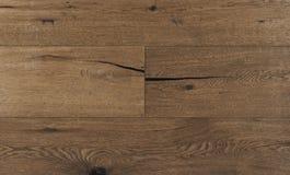 Draufsichtfoto von Eichen-Holzfußbodenbrettern der Weinlese rustikalen geräucherten australischen mit rauer Beschaffenheit, gebür stockbilder