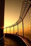 Draufsichtgebäudesonnenaufgangzeit am Baiyok-Himmelturm Lizenzfreie Stockfotografie