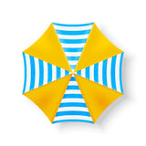 Draufsichtikonen des Strandschirms, Vektorillustration Lizenzfreie Stockfotografie