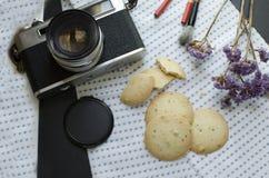 Draufsichtlebensmittelphotographie lizenzfreies stockfoto