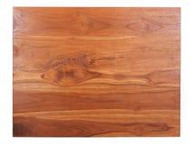 Draufsichttabellenholzbraun Lizenzfreies Stockbild