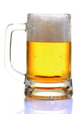 Draught beer. Glass isolated on white background Royalty Free Stock Images