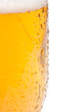 Draught Beer. Closeup of Glass of Draught Beer on White Background Royalty Free Stock Images