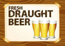 Draught beer Royalty Free Stock Photos