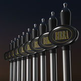 Draught beer tap on black background Stock Photography