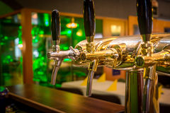 Draught beer tap Royalty Free Stock Photos