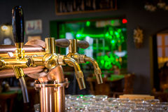 Draught beer tap Stock Image