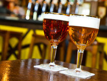 Draught pints Stock Photography