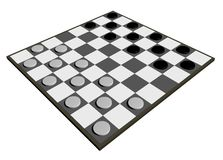 Draughts board Royalty Free Stock Image