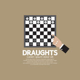 Draughts Or Checker Board Game. Vector Illustration Royalty Free Stock Photos