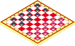 Draughts, game Stock Photography
