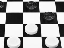 Draughts game close up Stock Photo