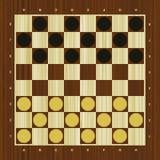 Draughts vector checker board Royalty Free Stock Photography