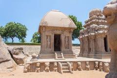 Draupadi ` s Ratha, μνημείο πέντε rathas, Mahabalipuram, Tamil Nadu, Ινδία Στοκ Φωτογραφία