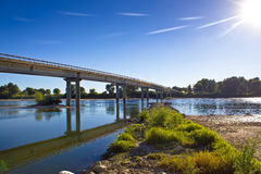 Drava river bridge in Podravina Stock Photo