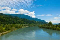 Drava river landscape Stock Photography