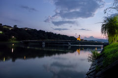 Drava river in Maribor Royalty Free Stock Images